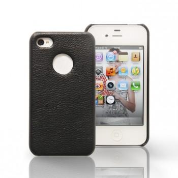 Чехол Jison Case Slim Fit Leather Cover Case BLACK для iPhone 4/4S