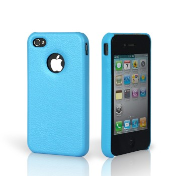 Чехол Jison Case Slim Fit Leather Cover Case BLUE для iPhone 4/4S