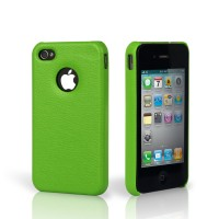 Чехол Jison Case Slim Fit Leather Cover Case GREEN для iPhone 4/4S