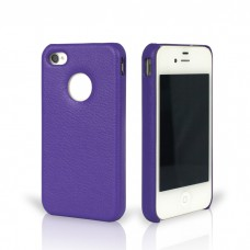 Чехол Jison Case Slim Fit Leather Cover Case PURPLE для iPhone 4/4S