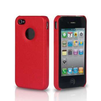 Чехол Jison Case Slim Fit Leather Cover Case RED для iPhone 4/4S