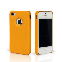 Чехол Jison Case Slim Fit Leather Cover Case YELLOW для iPhone 4/4S