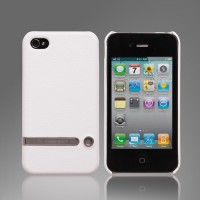 Чехол Jison Case Tripod Stand Leather Case WHITE для iPhone 4/4S