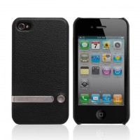 Чехол Jison Case Tripod Stand Leather Case BLACK для iPhone 4/4S