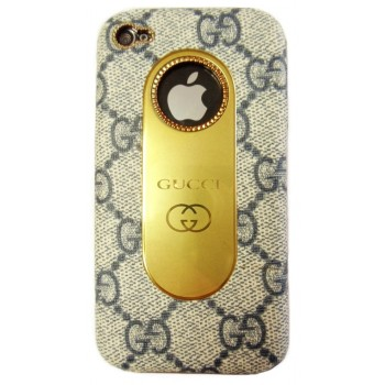 Чехол пластиковый KingPad Luxury GUCCI Cover Case GREY для iPhone 4/4S