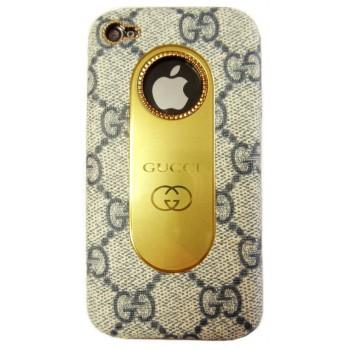 Чехол пластиковый KingPad Luxury GUCCI Cover Case GREY для iPhone 4/4S