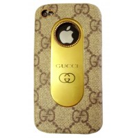 KingPad Luxury GUCCI Cover Case BROWN для iPhone 4/4S