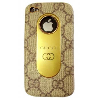 Чехол пластиковый KingPad Luxury GUCCI Cover Case BROWN для iPhone 4/4S