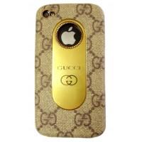 Чехол пластиковый KingPad Luxury GUCCI Cover Case BROWN для iPhone 4/4S
