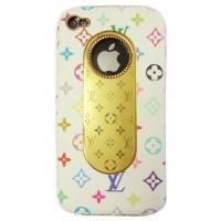 Чехол пластиковый KingPad Luxury Louis Vuitton Cover Case WHITE для iPhone 4/4S