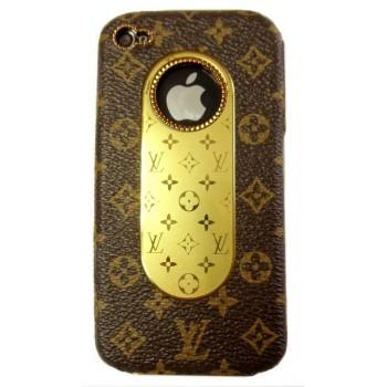 Чехол пластиковый KingPad Luxury Louis Vuitton Cover Case BROWN для iPhone 4/4S