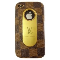 Чехол пластиковый KingPad Luxury Louis Vuitton Cover Case BROWN PATTERN для iPhone 4/4S