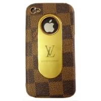 Чехол пластиковый KingPad Luxury Louis Vuitton Cover Case BROWN PATTERN для iPhone 4/4S