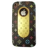 Чехол пластиковый KingPad Luxury Louis Vuitton Cover Case BLACK для iPhone 4/4S