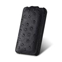 Чехол Melkco Leather Case Jacka Ostrich BLACK для iPhone 4/4S