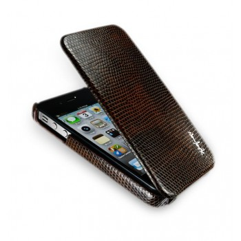 Чехол NavJack Vellum Series Flip Leather Case TANNED BROWN для iPhone 4/4S