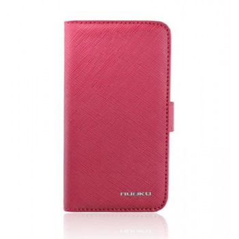 Чехол NUOKU BOOK Stylish Leather Case PINK для iPhone 4/4S