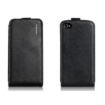 Чехол NUOKU Cradle Genuine Leather Case BLACK для iPhone 4/4S
