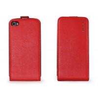 Чехол NUOKU Cradle Genuine Leather Case RED для iPhone 4/4S