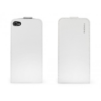 Чехол NUOKU Cradle Genuine Leather Case WHITE для iPhone 4/4S