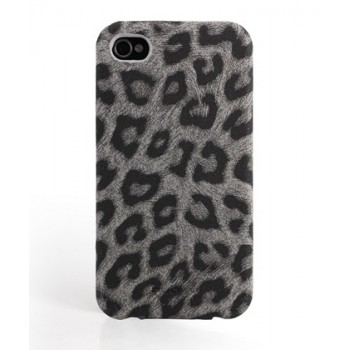 Чехол NUOKU LEO Stylish Leather Case BLACK для iPhone 4/4S