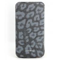 Чехол NUOKU LEO Stylish Leather Case GREY для iPhone 4/4S