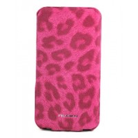Чехол NUOKU LEO Stylish Leather Case PINK для iPhone 4/4S