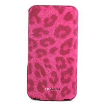 Чехол NUOKU LEO Stylish Leather Case PINK для iPhone 4/4S