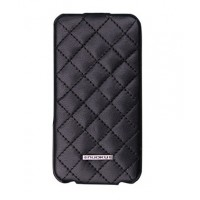Чехол NUOKU Only Luxury Lambskin Case BLACK для iPhone 4/4S