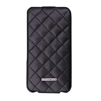 Чехол NUOKU Only Luxury Lambskin Case BLACK для iPhone 4/4S