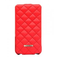 Чехол NUOKU Only Luxury Lambskin Case RED для iPhone 4/4S