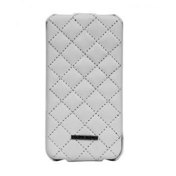 Чехол NUOKU Only Luxury Lambskin Case WHITE для iPhone 4/4S