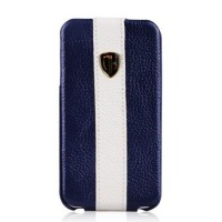 Чехол Nuoku Rock Luxury Flip Leather Case BLUE для iPhone 4/4S