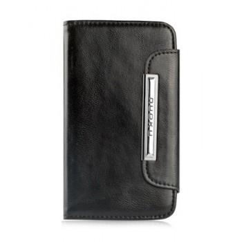 Чехол NUOKU SMART Stylish Leather Case BLACK для iPhone 4/4S