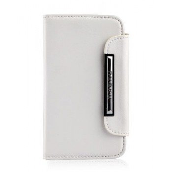 Чехол NUOKU SMART Stylish Leather Case WHITE для iPhone 4/4S