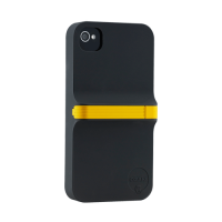 Чехол пластиковый Ozaki iCoat Finger Black/Yellow для iPhone 4/4S