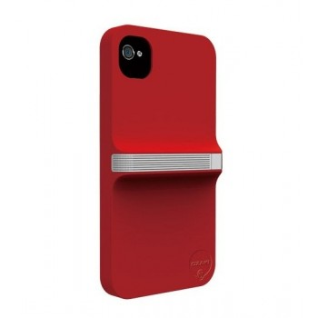Чехол пластиковый Ozaki iCoat Finger Red/White для iPhone 4/4S
