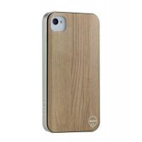 Чехол пластиковый под дерево Ozaki iCoat Wood Silence для iPhone 4/4S