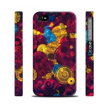 Чехол пластиковый Qcase Design Series RED FLOWERS для iPhone 4/4S