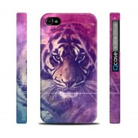 Чехол пластиковый Qcase Design Series TIGER SPACE для iPhone 4/4S