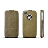 Чехол ROCK Big City Leather Fashion Flip Case GREEN для iPhone 4/4S