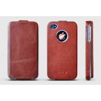Чехол ROCK Big City Leather Fashion Flip Case RED для iPhone 4/4S