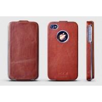 Чехол ROCK Big City Leather Fashion Flip Case RED для iPhone 4/4S