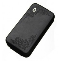 Чехол Spigen Gariz Edition BLACK Leather Case для iPhone 4/4S