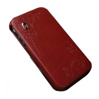 Чехол Spigen Gariz Edition RED Leather Case для iPhone 4/4S