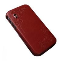 Чехол Spigen Gariz Edition RED Leather Case для iPhone 4/4S