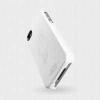 Чехол Spigen Case Genuine Leather Grip Series infinity White для iPhone 4/4S