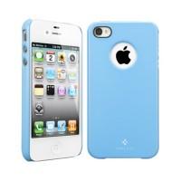 Чехол пластиковый Spigen Case Ultra Thin Air Pastel Series TENDER BLUE для iPhone 4/4S