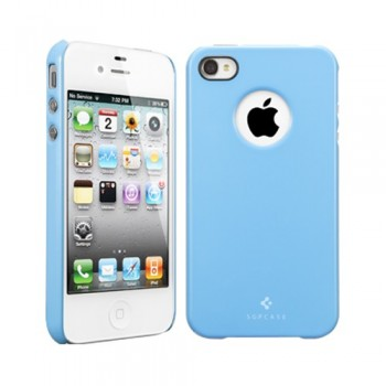 Чехол пластиковый Spigen Case Ultra Thin Air Pastel Series TENDER BLUE для iPhone 4/4S