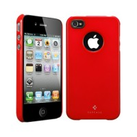 Чехол пластиковый SGP Case Ultra Thin Air Vivid Series DANTE RED для iPhone 4/4S